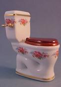"Reutter Porcelain 1"" Scale Dresden Rose Toilet"