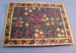 "1/2"" Scale Flower Basket Carpet"