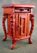 "Bespaq 1/2"" Scale Fantasy Lyre Walnut Night Stand"