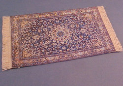 "1/2"" Scale Blue Medallion Carpet"