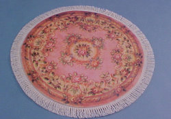 "1/2"" Scale Pink Rose Round Carpet"