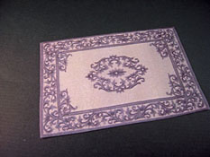 "Mc Bay Miniatures 1/2"" Scale Lovely China Blue Carpet"
