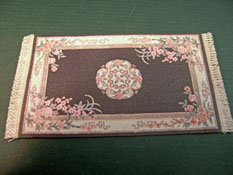Mc Bay Miniatures 1/2&quot; Scale Black Floral Carpet 
