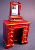 "Bespaq 1"" Scale Mahogany Fairfax Lady's Cabinet with Dressing Mirror"