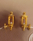 "Clare-Bell Brass 1/2"" Scale Pair of Brass Coach Lamps"