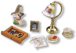 "1"" Scale Reutter Porcelain Grandma's Writing Accessories"