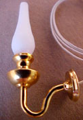 "Clare-Bell Brass 1/2"" Scale Brass Hurricane Wall Sconce"