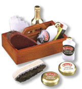 "1"" Scale Reutter Porcelain Shoe Shine Kit"