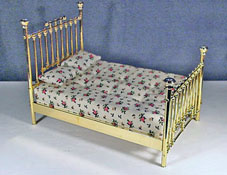 "Clare-Bell Brass 1"" Scale Fancy Brass Bed"