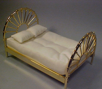 "Clare-Bell Brass 1"" Scale Wagon Wheel Bed"