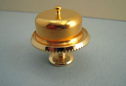"1"" Scale Clare-Bell Brass Cake Plate with Brass Cover"