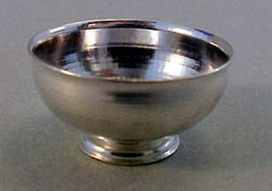 """Clare Bell Brass 1"""" Scale Silver Revere Bowl"""