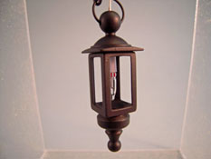 "1"" Scale Antique Black Hanging Coach Lamp"