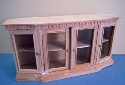 "1"" Scale Bespaq Unfinished Italianate Credenza"