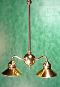 "1"" Scale Brass Billiard Light with LED Bulbs"