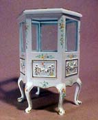 "Bespaq 1"" Scale Hand Painted Emporium Six Sided Cabinet"