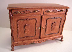 "Bespaq 1"" Scale Large Walnut Pineapple Chest"