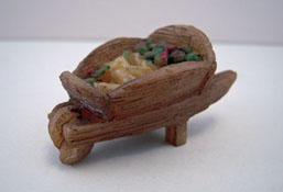 "Darling 1/2"" Scale Miniature Resin Wheelbarrow"