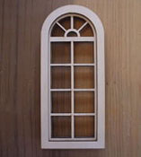 "Alessio Miniatures 1/2"" Scale Palladian Four Over Four Non-Working Window"