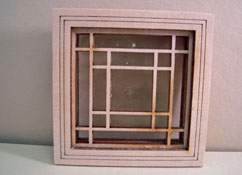 "Alessio Miniatures 1"" Scale Square in Square Non-Working Window"