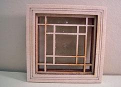 """Alessio Miniatures 1"""" Scale Square in Square Non-Working Window"""
