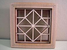 "Alessio Miniatures 1"" Scale Square and Diamond Non-Working Window"