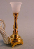 "1"" Scale Brass Torchiere Table Lamp"