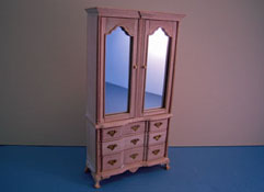 "Bespaq 1"" Scale Colonial Unfinished Armoire"