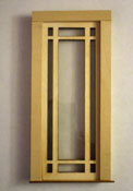 "Alessio Miniatures 1"" Scale Prairie Single Full Glass Exterior Door"