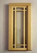 """Alessio Miniatures 1"""" Scale Prairie Single Full Glass Exterior Door"""