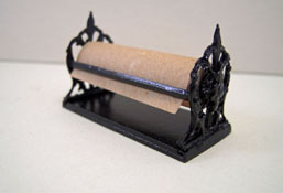 "1"" Scale Miniature Black Wrapping Paper Holder"