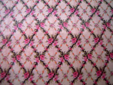"1/2"" Scale World Model Woven Rose Wallpaper"