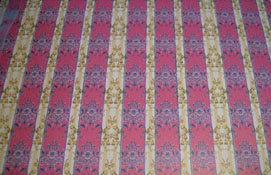 "1/2"" Scale World Model Gold and Red Striped Wallpaper"