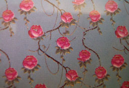 "1/2"" Scale World Model Blue Rose Wallpaper"