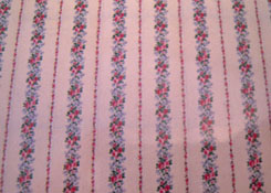 "1/2"" Scale World Model Blue Rose Striped Wallpaper"