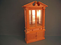 "1"" Scale Bespaq Miniature Unfinished Adam's Closed Case Curio"