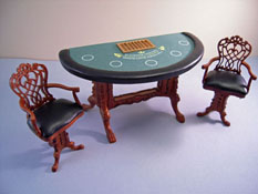 "1"" Scale Bespaq Grande Casino Blackjack Table Set"