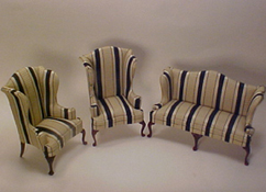 Bespaq 1 Scale &quot;Downtown Stripe&quot; Sofa Set