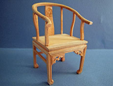 "1"" Scale Bespaq Unfinished Ming Horne Chair"