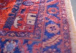 "Reutter 1"" Scale Red and Blue Story Carpet"