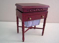 "1"" Scale Miniature Mahogany Bespaq ""Bespoke Tailoring"" Sewing Stand"