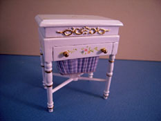 "1"" Scale Miniature Hand Painted Bespaq ""Bespoke Tailoring"" Sewing Stand"