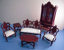 "Bespaq 1"" Scale ""Westmorland"" Elegant Mahogany Six Piece Living Room Set"