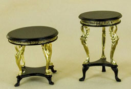 "1"" Scale Bespaq Black Two Piece Uptown Deco Table Set"