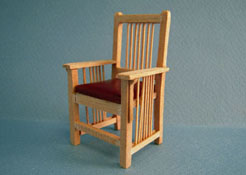 "Bespaq 1"" Scale Mission Unfinished Nursery Child's Chair"