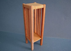 "Bespaq 1"" Scale Unfinished Mission Style Plant Stand"