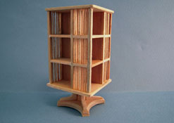 "Bespaq 1"" Scale Unfinished Mission Style Revolving Bookcase"