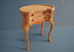 "1"" Scale Bespaq Unfinished Small Kidney Top Table"