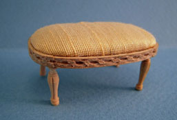 "1"" Scale Bespaq Unfinished Classique Foot Stool"