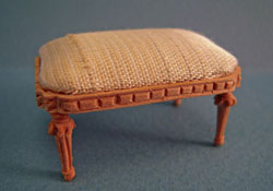 "1"" Scale Bespaq Unfinished Louis XVI Foot Stool"